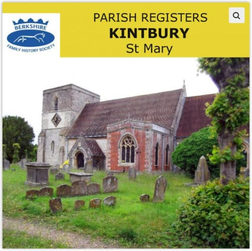 Kintbury St Mary Parish Registers CD