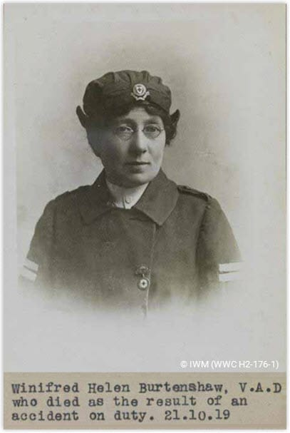 Centenary Commemoration of the death in active service of VAD Winifred Burtenshaw