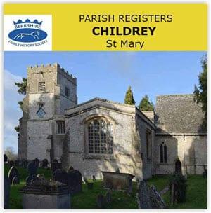 Childrey, St Mary Parish Registers, 1558-1928 CD